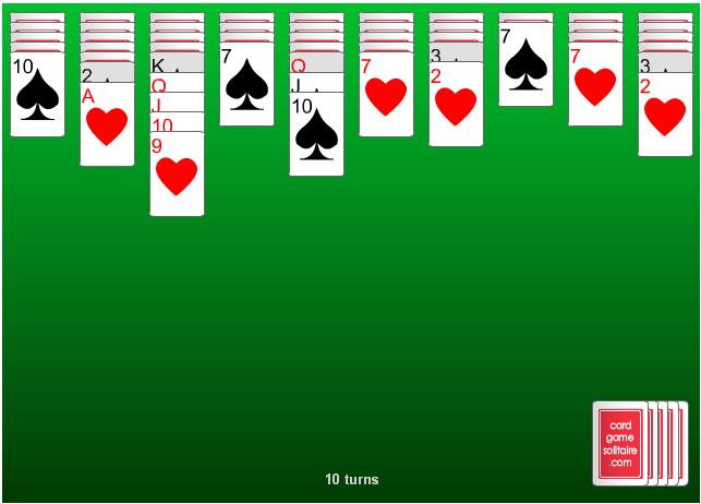 solitaire, spider solitaire, spider, card games, free card games, cards, games, online card games, free solitaire